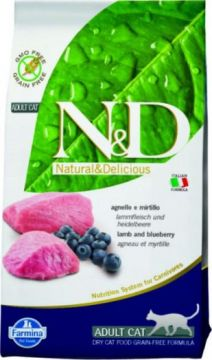 N&D Cat Lamb & Blueberry Adult (ягненок+черника беззерновой для взрослых кошек)