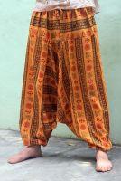 Мужские хлопковые штаны афгани (алладины) с символами ОМ, Санкт-Петербург