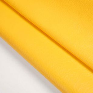 Кожзам для кукольных ботиночек - желтый, 25*20 см