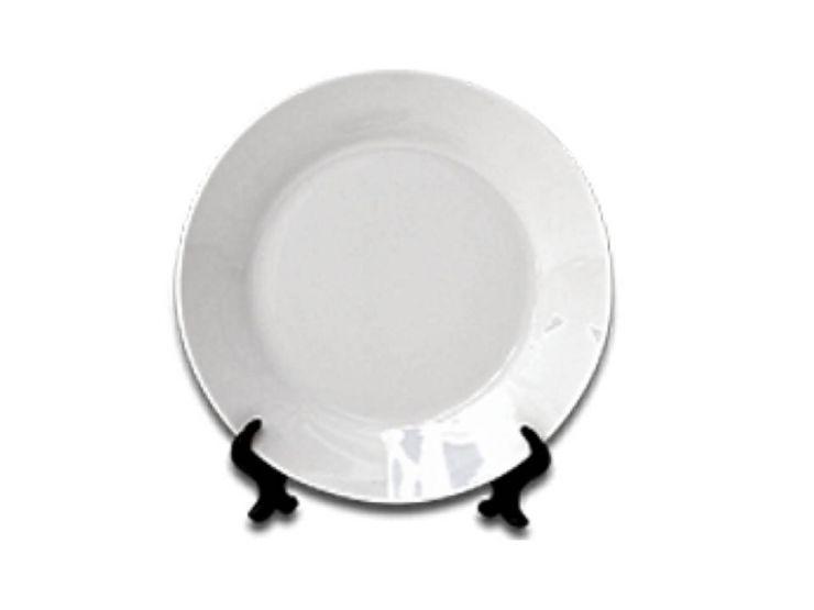 """Белая керамическая тарелка диаметром 7.5"""""""