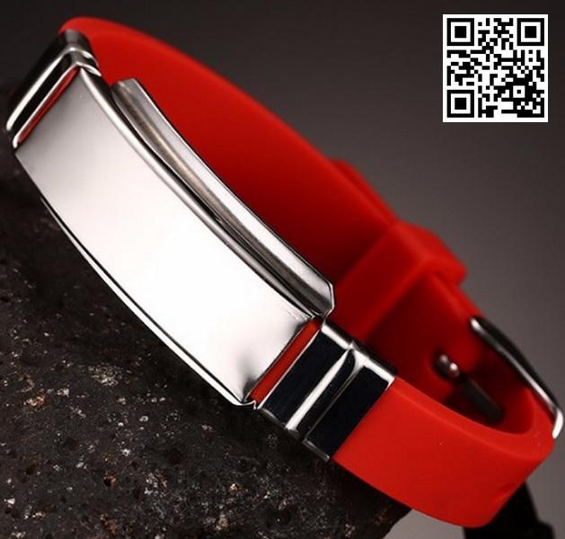 Каучуковый браслет KB106R-AL