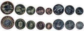 Фауна Набор монет  Гренландия  2010 8 монет