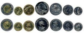 Фауна.Набор монет Кокосовые острова.2004(6 монет)