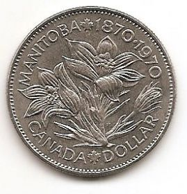 100 лет со дня присоединения Манитобы 1 доллар Канада  1970
