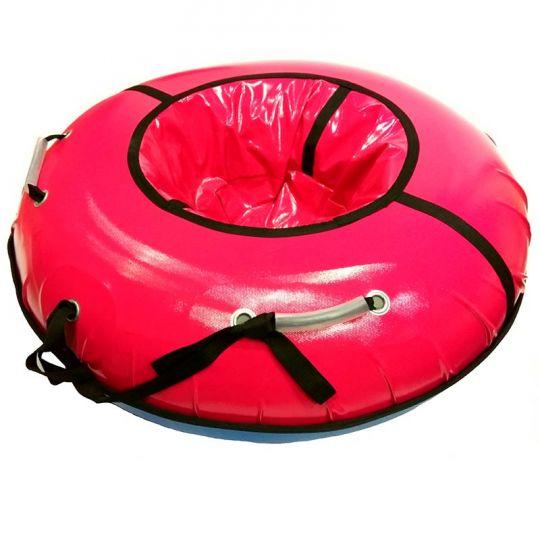 Тюбинг 120см Профи с пластиковым дном, розовый