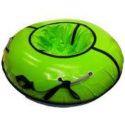 Тюбинг с пластиковым дном серии Профи 120 см, цвет салатовый