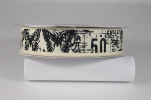 Лента хлопковая с рисунком, ширина 20 мм, рулон 20 ярдов = 18 метров, Арт. ХЛР-P13717