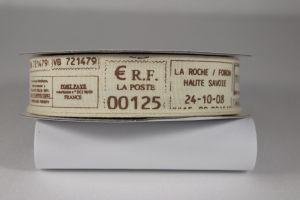 Лента хлопковая с рисунком, ширина 22 мм, рулон 20 ярдов = 18 метров