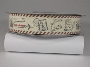 Лента хлопковая с рисунком, ширина 20 мм, рулон 20 ярдов = 18 метров, Арт. ХЛР-SP810