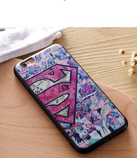 Прочный силиконовый чехол для iPhone 6/6s (Superman комикс)