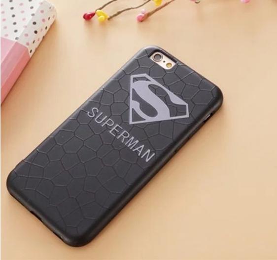 Прочный силиконовый чехол для iPhone 6/6s (Superman)