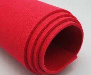 Фоамиран Иранский, толщина 2 мм, размер 60х70 см, цвет красный (1 уп = 5 листов)