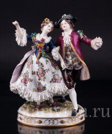 Танцующая пара, кружевная, Volkstedt, Германия, до 1935 года