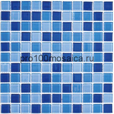 Blue wave-1 стекло. Мозаика серия CRYSTAL, размер, мм: 300*300