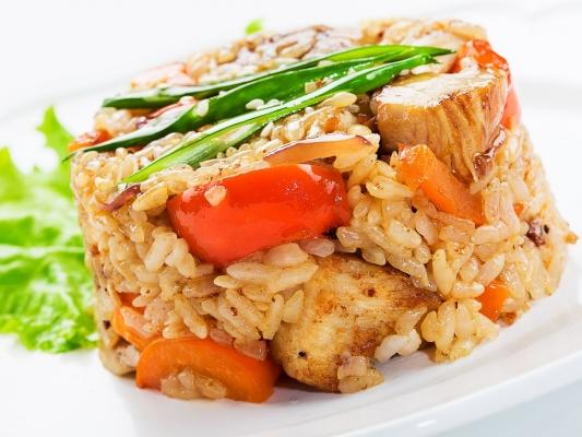 Рис с курочкой