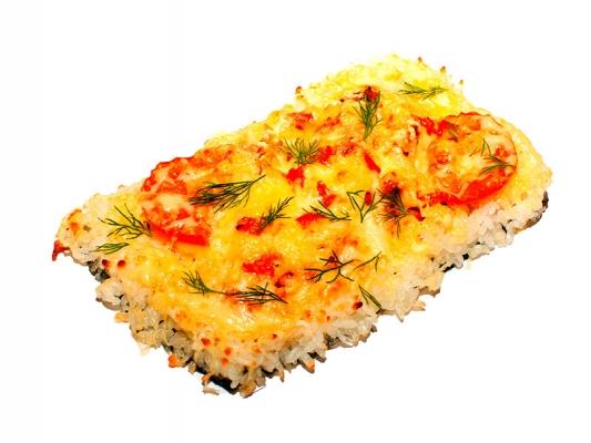 Суши пицца с курицей