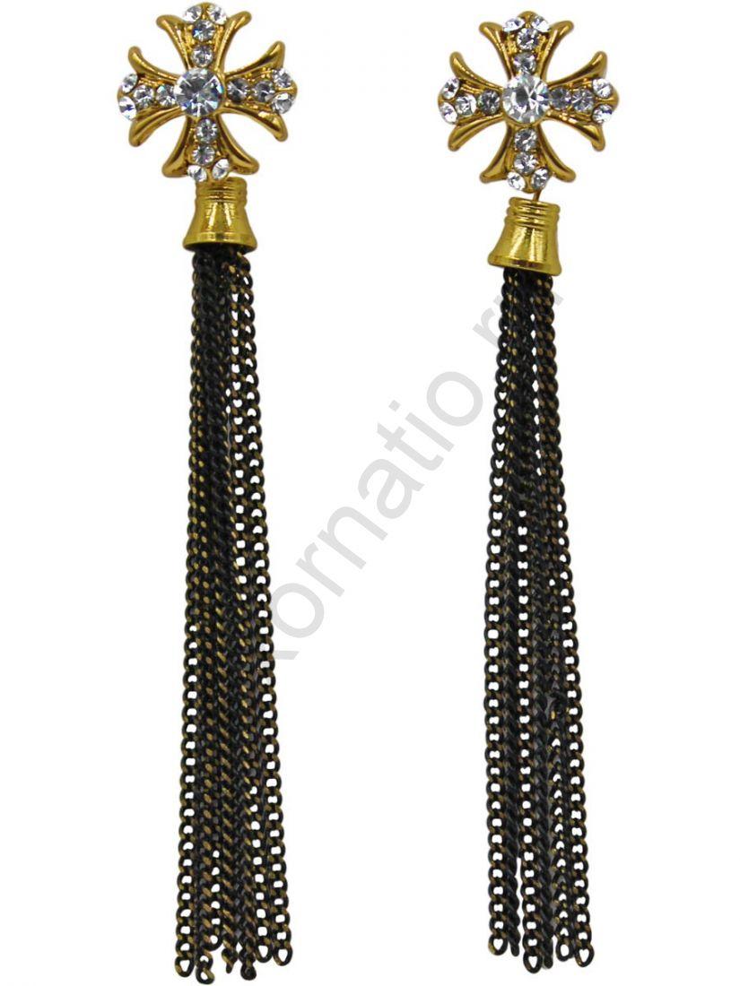 Серьги Taya LX T-B-11298 EARR GL.BLACK