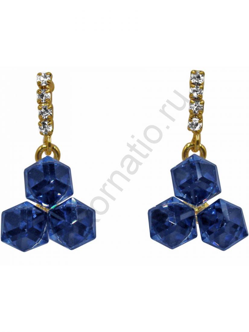 Серьги Taya LX T-B-11318 EARR GL.D.BLUE
