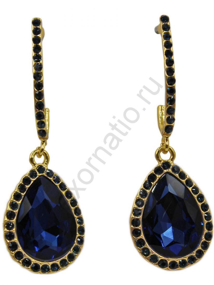 Серьги Taya LX T-B-11264 EARR GL.D.BLUE