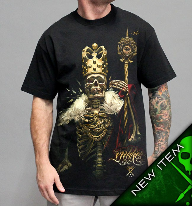 Sullen NIKKO KING Mens Black Tee Shirt