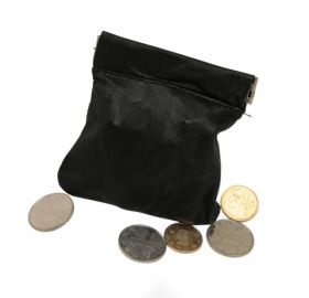 Монетный мешочек - кожа - Coin Purse - Spring Buckle