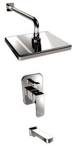 Kaiser Sonat 34322 Смеситель скрытого монтажа с изливом и верхним душем