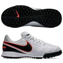 Детские шиповки-сороконожки Nike Tiempo Legend VI TF Junior белые