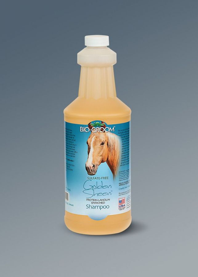 Bio-Groom Golden Sheen. Шампунь для тела лошади, гривы и хвоста.