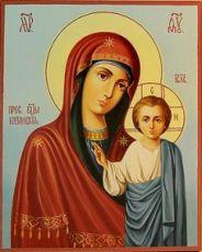 Венчальная пара 32. Казанская Божией Матери (рукописная икона)