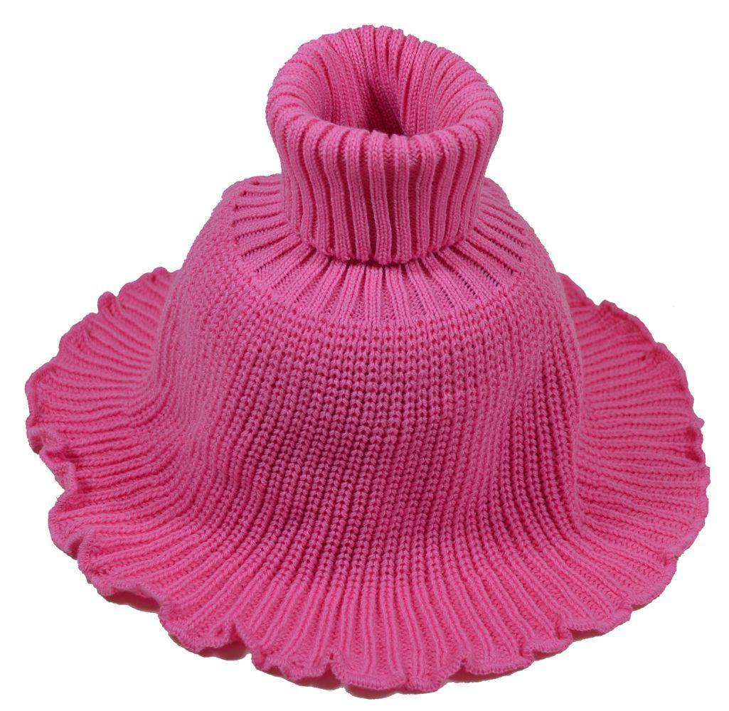м1002-47 Манишка с отворотом большая розовая