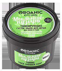 """Мыло для душа тонизирующее густое """"Мыльные пузыри"""" Organic Kitchen"""