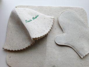 """БА"" Комплект №1(шапка,рукавица,коврик)"