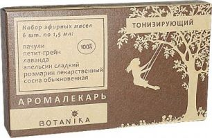 """""""Ботаника"""" Тонизирующий набор 100% эфирных масел"""