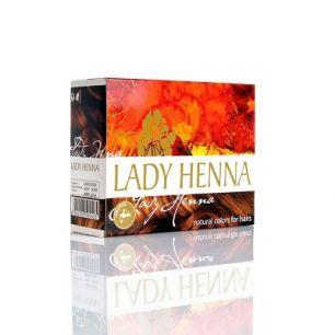 Каштановый - краска для волос на основе хны LADY HENNA (№4)