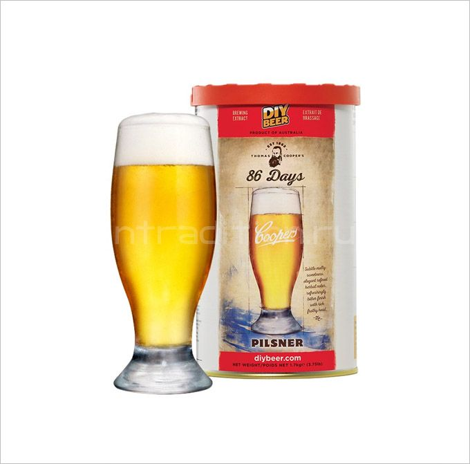 Coopers 86 Days Pilsener, 1,7 кг