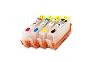 Комплект перезаправляемых картриджей для HP 178 (4 цвета) с чипами (с гарантией)