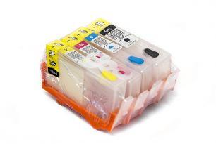 Комплект перезаправляемых картриджей для HP 920 с чипами (белая упаковка)