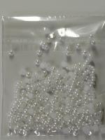 Жемчуг белый для дизайна ногтей (3 мм) 100 шт