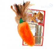 """KONG Игрушка для кошек """"Морковь"""" с кошачьей мятой (15 см)"""
