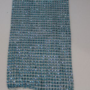 "Лента декоративная ""имитация страз"", ширина 12 см, длина 10 ярдов, цвет: бирюзовый"