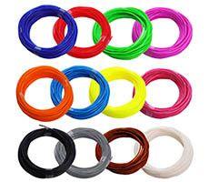 Набор пластика ABS  для 3Д ручки (12 цветов)