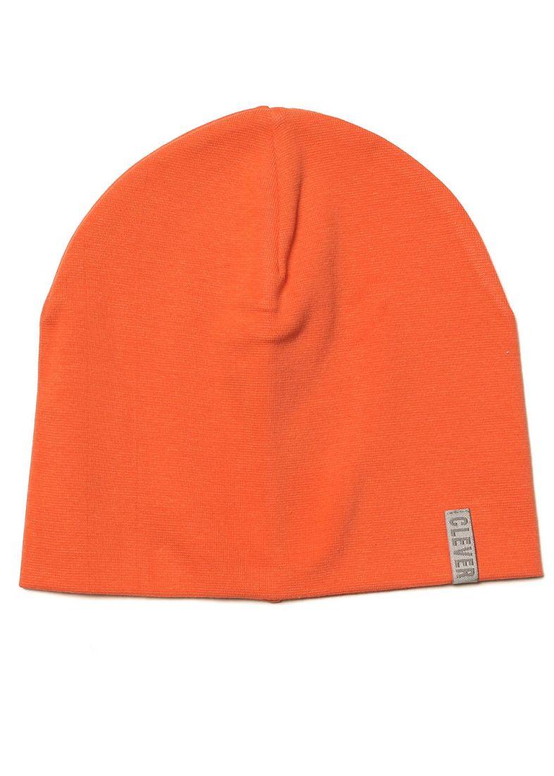 Оранжевая шапка из хлопка на 5-7 лет