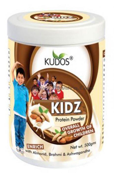 Протеиновый порошок для роста детей Кудос Аюрведа   Kudos Ayurveda KIDZ Protein Powder