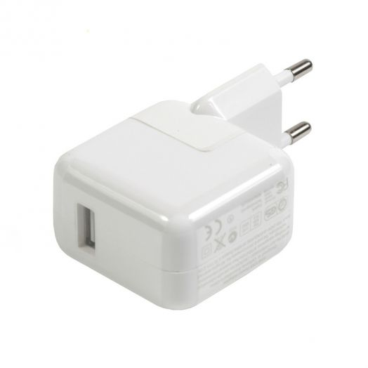 Вилка USB большая 12 W (2.1 А iPAD без коробки)