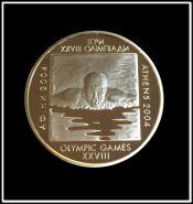 Украина 10 гривен 2002 XXVIII Олимпиада 2004 в Афинах, СЕРЕБРО, пловец (спорт)