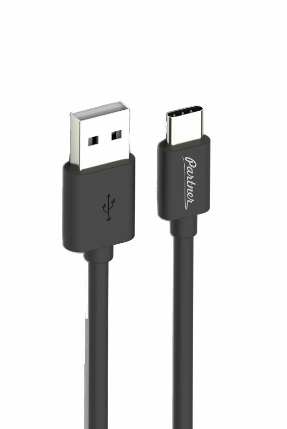 Кабель USB 2.0 - USB Type-C, 1м, 2.1A, OLMIO