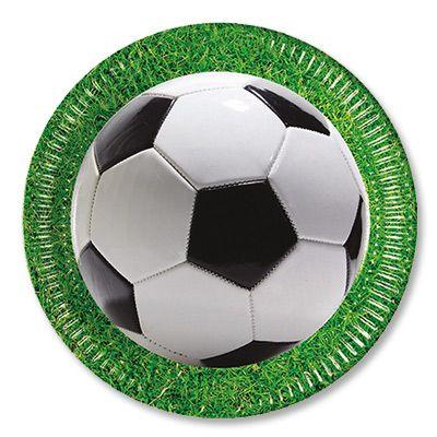 Тарелки большие Футбол зеленый газон, 23 см