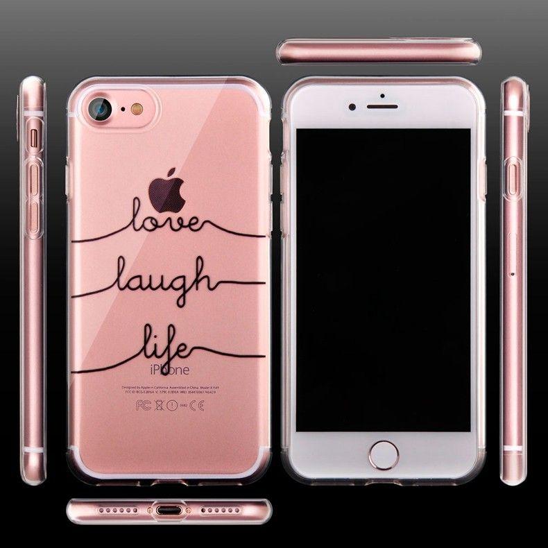 Силиконовый чехол для iPhone 6/6s (Love-lough-life)