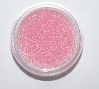 Бульонки для дизайна ногтей прозрачные (нежно-розовые), 5 грамм