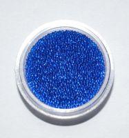 Бульонки для дизайна ногтей прозрачные (синие), 5 грамм
